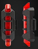Недорогие -Brelong портативный USB перезаряжаемый велосипед хвост велосипед после предупреждения безопасности задний свет светодиодная подсветка