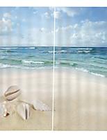 Недорогие -современная 3d печать украшения дома солнцезащитный крем водонепроницаемый и плесени для ванной занавес спальня гостиная звукоизоляция и пылезащитный занавес
