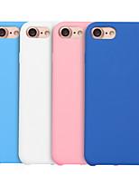 Недорогие -Кейс для Назначение Apple iPhone XS / iPhone XR / iPhone XS Max Защита от удара Кейс на заднюю панель Однотонный Мягкий силикагель