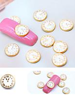 Недорогие -10 шт. / Упак. 3d рим циферблат аксессуары для ногтей diy часы форма ногтей поставки ногтей прелести