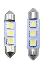 Недорогие -Белый автомобиль авто 31мм 36мм 39мм 41мм 5050 чип 3-smd лампы для чтения гирлянда купол светодиодные лампочки
