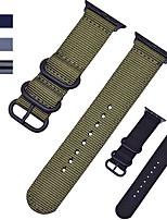 Недорогие -Ремешок для часов для Apple Watch Series 4/3/2/1 Apple Спортивный ремешок Нейлон Повязка на запястье
