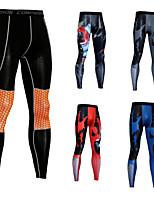 Недорогие -Муж. Компрессионные брюки Виды спорта Контрастных цветов Нижняя часть Бег Фитнес Спортивная одежда Дышащий Быстровысыхающий Эластичность