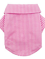 Недорогие -Собаки Рубашка Одежда для собак В полоску геометрический Желтый Синий Розовый Полиэстер Костюм Назначение Шиба-Ину Мопс Бишон Фриз Весна Лето Классический минималист