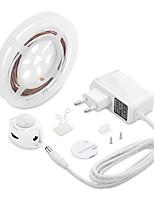 Недорогие -1 компл. Светодиодные полосы света движения активированный водонепроницаемый светодиодный шкаф свет пир датчик движения 1,5 м кровать для домашней кухни (теплый белый)