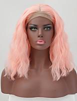 Недорогие -Парики из натуральных волос на кружевной основе Естественные кудри Стиль Средняя часть Лента спереди Парик Омбре Оранжевый Искусственные волосы 26 дюймовый Жен. Женский Омбре Парик Длинные
