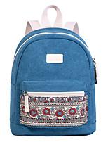 Недорогие -Большая вместимость холст Молнии рюкзак Повседневные Синий / Красный / Светло-серый
