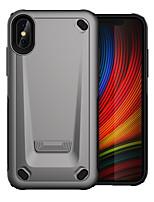Недорогие -Кейс для Назначение Apple iPhone XS / iPhone X Защита от удара Кейс на заднюю панель броня ПК