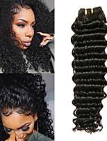 Недорогие -6 Связок Перуанские волосы Крупные кудри Необработанные натуральные волосы 100% Remy Hair Weave Bundles Человека ткет Волосы Пучок волос Накладки из натуральных волос 8-28 дюймовый Естественный цвет