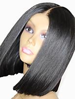 Недорогие -Парики из искусственных волос Естественный прямой Стиль Стрижка каскад Без шапочки-основы Парик Черный Черный Искусственные волосы 38~42 дюймовый Жен. Новое поступление Черный Парик Средняя длина