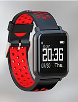 Недорогие -Sn60 умный браслет водонепроницаемый Bluetooth 0,96-дюймовый сенсорный экран монитора сердечного ритма