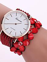 Недорогие -модные женские игристые горный хрусталь клевер браслет часы круглый циферблат кварцевые наручные часы