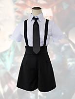Недорогие -Вдохновлен Земля светлой Куки-аниме Аниме Косплэй костюмы Японский Школьная форма Пальто / Блузка / Пояс Назначение Жен.