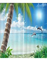 Недорогие -Украшение дома уф-печать пейзаж высокого качества декоративные шторы гостиная полиэфирная ткань занавес