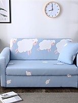 cheap -Cartoon Sheep Print Dustproof All-powerful Slipcovers Stretch Sofa Cover Super Soft Fabric Couch Cover with One Free Pillow Case