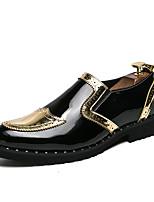 Недорогие -Муж. Комфортная обувь Полиуретан Лето На каждый день Мокасины и Свитер Нескользкий Контрастных цветов Черный / Золотой / Серебряный
