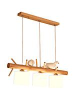 Недорогие -деревянные подвесные светильники современные креативные люстры из цельного дерева 3 светильника абажур регулируемые потолочные светильники для кухни островной обеденный стол