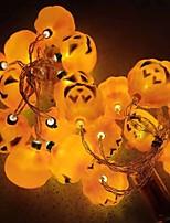 Недорогие -1,5 м Гирлянды 20 светодиоды Желтый Декоративная Солнечная энергия 1 комплект