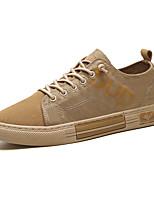 Недорогие -Муж. Комфортная обувь Полотно Весна / Осень На каждый день Кеды Черный / Военно-зеленный / Желтый / на открытом воздухе