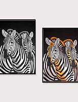 Недорогие -Отпечаток в раме Набор в раме - Животные Поп-арт Полистирен Масляные картины Предметы искусства