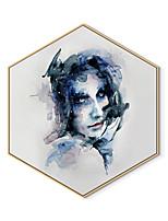 Недорогие -Отпечаток в раме Холст в раме С принтом - Люди Полистирен Иллюстрации Предметы искусства