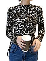 Недорогие -Жен. Блуза Классический Леопард Черный