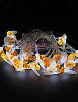 Недорогие -1m Гирлянды 10 светодиоды Тёплый белый Декоративная 5 V 1 комплект