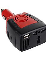 Недорогие -Dc 12v инвертора силы автомобиля 150w к переходнике заряжателя usb 5v ac 110v автоматическому для компьтер-книжки