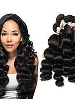 Недорогие -6 Связок Малазийские волосы Свободные волны Необработанные натуральные волосы 100% Remy Hair Weave Bundles Головные уборы Человека ткет Волосы Пучок волос 8-28 дюймовый Естественный цвет