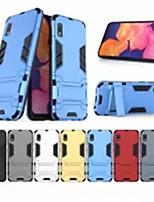 Недорогие -Кейс для Назначение SSamsung Galaxy S9 / S9 Plus / S8 Plus Защита от удара / со стендом Кейс на заднюю панель Однотонный ПК