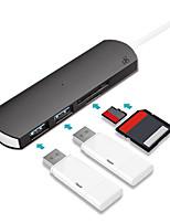 Недорогие -D8 TC-0423 USB 3.0 Тип C to USB 3.0 Тип C / Micro USB 3.0 / SD-карта / TF карта USB-концентратор 4 Порты Высокая скорость / LED индикатор / С чтения карт (ы) / Функция поддержки питания