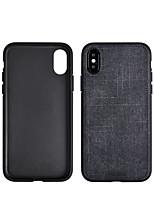Недорогие -чехол для яблока iphone xs / iphone xr / iphone xs max противоударная задняя крышка сплошная твердая кожа pu для iphone x / iphone xs / iphone xr