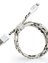 Недорогие -df mfi кабель молнии micro usb / кабель молнии 1 м (3 фута) зарядный кабель pu кабель для передачи данных кабель быстрой зарядки для iphone / ipad / ipod