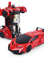 Недорогие -Машинка на радиоуправлении 8202 2-Kанальн. Инфракрасный Дрифт-авто 1:14 Бесколлекторный электромотор 7.2 km/h USB / Вращающаяся подвижная головка / Молодежный