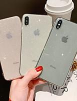 Недорогие -Кейс для Назначение Apple iPhone XR / iPhone XS Max / iPhone X Сияние и блеск Кейс на заднюю панель Сияние и блеск Мягкий ТПУ