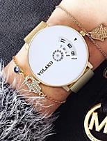 Недорогие -Жен. Кварцевые На каждый день Мода Серебристый металл Золотистый Нержавеющая сталь Китайский Кварцевый Золотой + черный Белый + Золотой Белый + Silver Защита от влаги Повседневные часы Cool 30 m 1 ед.