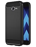 Недорогие -Кейс для Назначение SSamsung Galaxy A5 (2017) Защита от удара / Защита от пыли / Ультратонкий Кейс на заднюю панель Однотонный Мягкий Углеродное волокно / силикагель