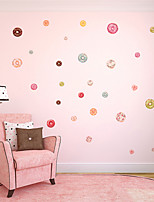 cheap -Donut Wall Stickers Plane Wall Stickers / Holiday Wall Stickers Decorative Wall Stickers, PVC Home Decoration Wall Decal Wall Decoration 1pc