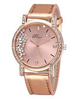 Недорогие -Нарядные часы Кожа Аналоговый Серебряный Розовый с красным / Нержавеющая сталь