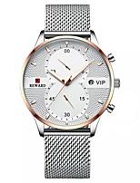 Недорогие -Муж. Спортивные часы Японский Японский кварц Спортивные Стильные Нержавеющая сталь Черный / Белый / Синий 30 m Защита от влаги Фосфоресцирующий Аналого-цифровые На каждый день Мода -  / Два года