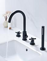 Недорогие -Смеситель для душа / Смеситель для ванны - Современный Неприменимо Разбросанная Керамический клапан Bath Shower Mixer Taps