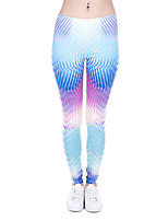 cheap -Women's Sporty Comfort Sports Gym Yoga Leggings Pants Patterned Ankle-Length Print Light Blue