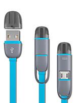 Недорогие -Micro USB / Подсветка Кабель 1.0m (3FT) Все в одном / От 1 до 2 TPE Адаптер USB-кабеля Назначение iPad / Huawei / LG