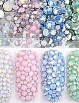 Недорогие -1 упак. Мульти размер ss4-ss20 опал стразы для ногтей с плоским дном красочные хрустальные стеклянные камни для diy уф-гель 3d украшения для ногтей