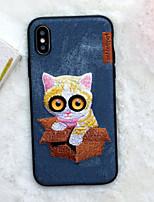 Недорогие -Кейс для Назначение Apple iPhone XS / iPhone XR / iPhone XS Max С узором Кейс на заднюю панель Мультипликация Мягкий текстильный