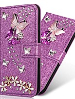 cheap -Case For Samsung Galaxy A51 A31 A71 Wallet / Card Holder / with Stand Glitter Shine Butterfly PU Leather Case For Samsung A70E A41 A11 A21 A91 A81 A20e A10e A50s A30s A70s A20 M20 M10 A750