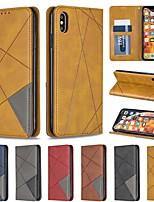 Недорогие -чехол для яблока iphone xr / iphone xs max магнитный / флип / с подставкой для чехлов всего тела с геометрическим рисунком жесткая искусственная кожа для iphone 6/6 plus / 6s / 7/8 plus / xs / x