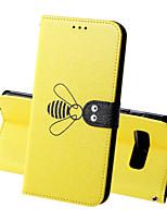 Недорогие -Кейс для Назначение SSamsung Galaxy S9 / S9 Plus / S8 Plus Кошелек / Бумажник для карт / Защита от удара Чехол Однотонный / Животное Твердый Кожа PU
