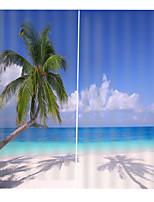 Недорогие -Европейский декор дома 3d голубое небо море печатных водонепроницаемый плотные шторы ткань спальни гостиная занавес