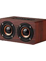 Недорогие -W5 цифровой будильник Bluetooth-динамик беспроводной громкой связи деревянный динамик с микрофоном 1500 мАч классический домашний динамик